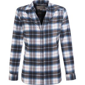 Royal Robbins Merinolux Plaid Blouse Flanel Dames, poseidon